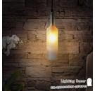 โคมไฟแต่งบ้าน ทรงขวดแก้ว สีขาวขุ่น โคมไฟแบบห้อยเพดาน จำหน่ายโคมไฟปลีก - ส่ง โคมไฟรูปขวดสำหรับตกแต่งบ้าน ห้องครัว โต๊ะอาหาร หรือตกแต่งร้านค้า