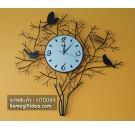 นาฬิกาประดับด้วยกิ่งไม้และรังนก สำหรับแต่งบ้านสวยๆเก๋ๆ ของขวัญขึ้นบ้านใหม่ไม่เหมือนใคร